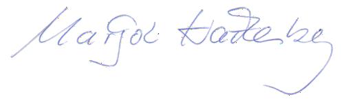 Margot Hackenberg - Unterschrift